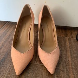 Pink Banana Republic Calf Hair Pumps